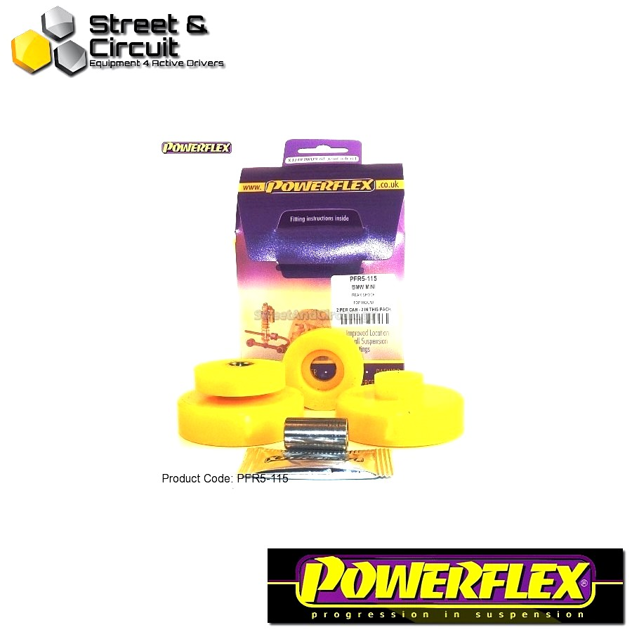 | ΑΡΙΘΜΟΣ ΣΧΕΔΙΟΥ 15 | - Powerflex ROAD *ΣΕΤ* Σινεμπλόκ - Mini Generation 2 - Rear Shock Top Mounting Bush Code: PFR5-115