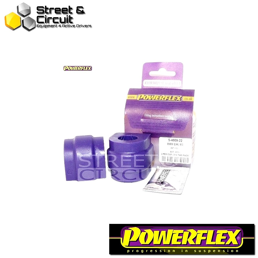 | ΑΡΙΘΜΟΣ ΣΧΕΔΙΟΥ 5 | - Powerflex ROAD *ΣΕΤ* Σινεμπλόκ - E53 X5 (1999-2006) - Rear Anti Roll Bar Mounting Bush 22mm Code: PFR5-4609-22