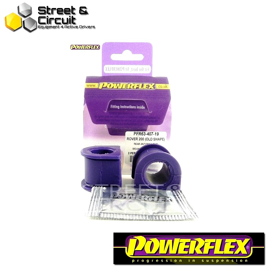 | ΑΡΙΘΜΟΣ ΣΧΕΔΙΟΥ 12 | - Powerflex ROAD *ΣΕΤ* Σινεμπλόκ - 200 Series (Old Shape) 400 Series (Old Shape) - Rear Anti Roll Bar Mount 19mm Code: PFR63-407-19