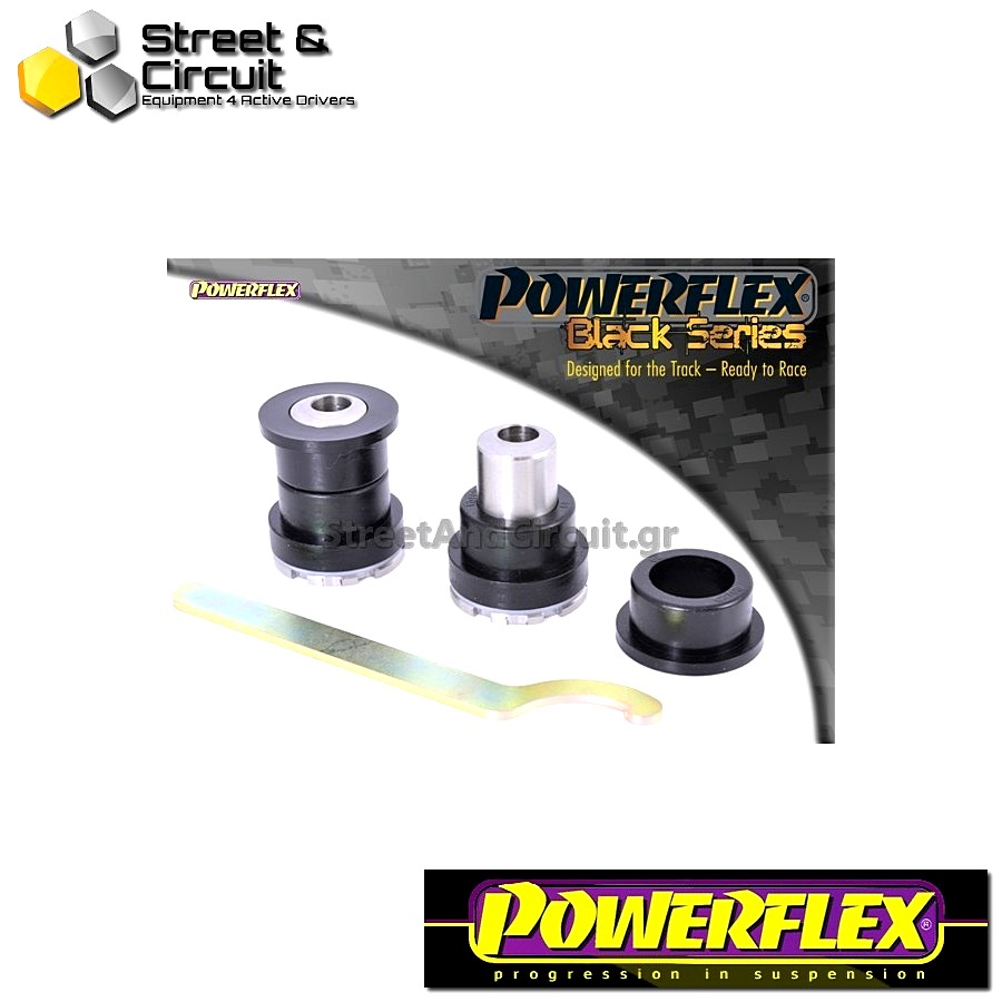 | ΑΡΙΘΜΟΣ ΣΧΕΔΙΟΥ 10 | - Powerflex BLACK SERIES *ΣΕΤ* Σινεμπλόκ - BRZ  - Rear Upper Arm Inner Front Bush ADJUSTABLE Code: PFR69-510GBLK