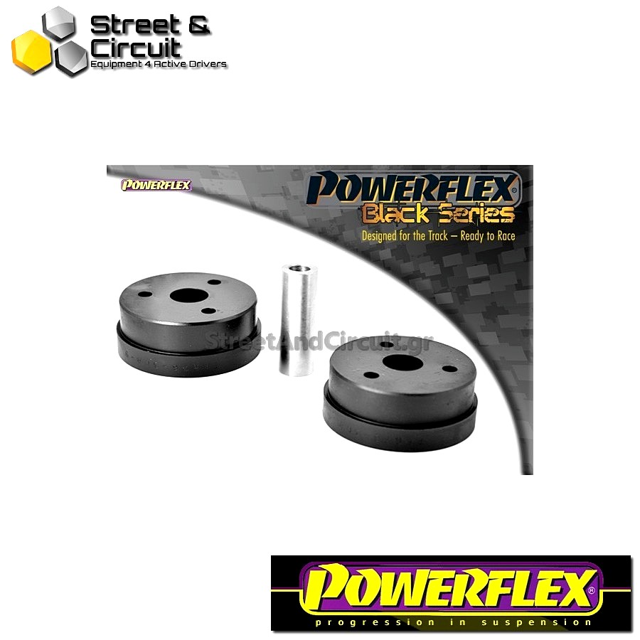 | ΑΡΙΘΜΟΣ ΣΧΕΔΙΟΥ 9 | - Powerflex BLACK SERIES *ΣΕΤ* Σινεμπλόκ - MR2 3S-FE/GE SW20 (1989-1999) - Rear Lower Engine Mount Rear Code: PFR76-309BLK