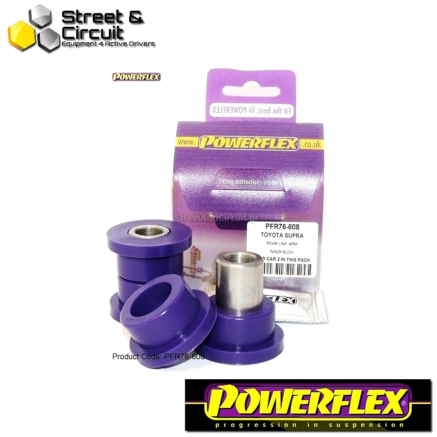 | ΑΡΙΘΜΟΣ ΣΧΕΔΙΟΥ 8 | - Powerflex ROAD *ΣΕΤ* Σινεμπλόκ - Supra 4 JZA80 (1993-2002) - Rear Trailing Arm Front Bush Code: PFR76-608