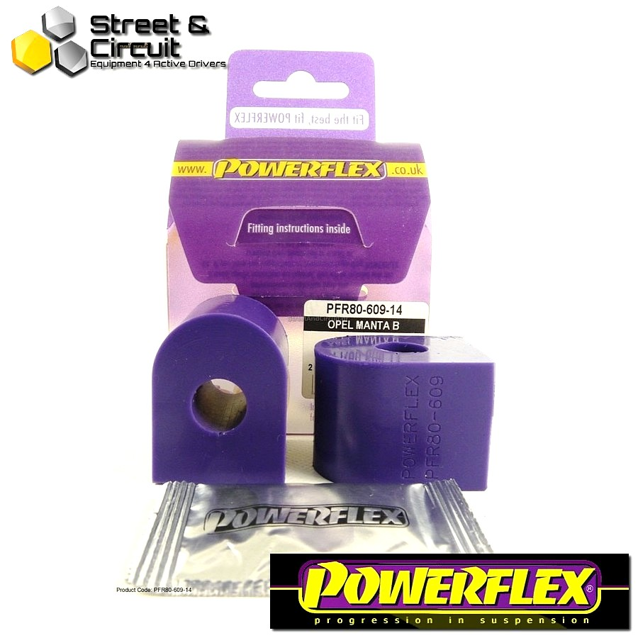 | ΑΡΙΘΜΟΣ ΣΧΕΔΙΟΥ 9 | - Powerflex ROAD *ΣΕΤ* Σινεμπλόκ - Manta B - Rear Anti Roll Bar Bush 14mm Code: PFR80-609-14